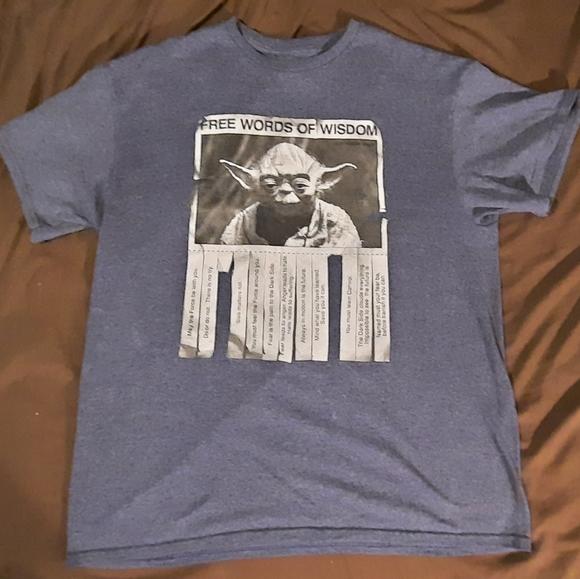Star Wars Yoda shirt men's Large